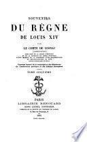 Souvenirs du regne de Louis XIV