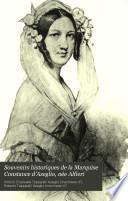Souvenirs historiques de la Marquise Constance d'Azeglio, née Alfieri