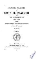 Souvenirs politiques du comte de Salaberry sur la restauration, 1821-1830
