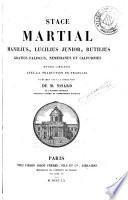 Stace, Martial, Manilius Lucilius Junior, Rutilius, Gratius Faliscus Néméssianus et Calpurnius