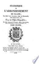 Statistique de l'arrondissement de Falaise