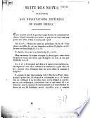 Suite des notes en réponse aux observations imprimées de Joseph Seriziat