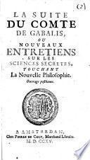 Suite du Comte de Gabalis, ou Nouveaux Entretiens sur les sciences secretes