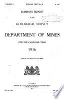 Summary Report - Geological Survey Department