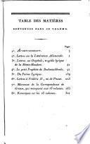 Supplément à la Correspondance littéraire de MM. Grimm et Diderot