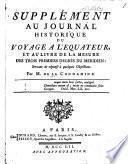 Supplément au Journal historique du voyage a l'equateur