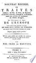 Supplément au Recueil de principaux traités d'alliance, de paix, de trêve ...