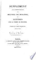 Supplément aux diverses éditions des oeuvres de Molière