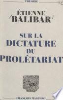 Sur la dictature du prolétariat