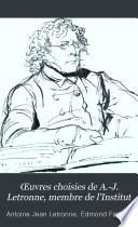 Œuvres choisies de A.-J. Letronne, membre de l'Institut: sér. Égypte ancienne (2 v., 1881)