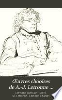 Œuvres chooises de A.-J. Letronne ...
