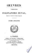 Œuvres complètes d'Alexandre Duval