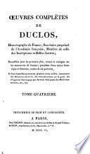 Œuvres complètes de Duclos