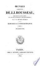 Œuvres complètes de J.J. Rousseau: Dialogues