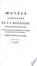 Œuvres completes de J.J. Rousseau: Pensées et maximes