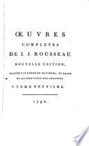 Œuvres completes de J.J. Rousseau: Politique