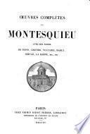 Œuvres complètes de Montesquieu