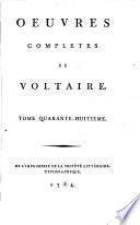 Œuvres completes de Voltaire