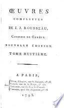 Œuvres complettes de J. J. Rousseau, citoyen de Genève: Émile