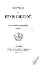 Œuvres de Denis Diderot: Dictionnaire encyclopédique
