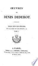 Œuvres de Denis Diderot: Essai sur les règnes de Claude etde Néron, etc