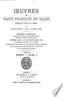 Œuvres de Saint François de Sales ...: Sermons