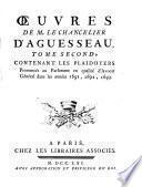 Œuvres [ed. by the abbé André].