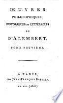 Œuvres philosophiques, historiques et littéraires [ed. by J.F. Bastien].