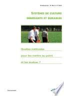 Systèmes de culture innovants et durables (ePub)