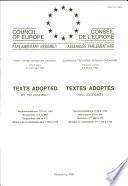Textes adoptés par l'Assemblée