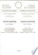 Texts Adopted - Standing Conference of Local and Regional Authorities of Europe