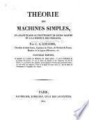 Théorie des machines simples