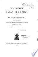 Thonon, Évian-les-Bains et le Chablais moderne