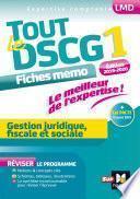 Tout le DSCG 1 - Gestion juridique fiscale et sociale - 3e édition - Révision