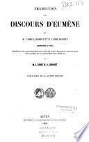 Traduction des discours d'Eumène, accompagné du texte
