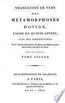 Traduction En Vers Des Metamorphoses D'Ovide