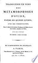 Traduction en vers des métamorphoses d'Ovide