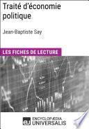 Traité d'économie politique de Jean-Baptiste Say