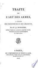 Traité de l'art des armes