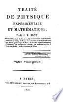 Traite de physique experimentale et mathematique