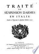 Traité de suspension d'Armes en Italie