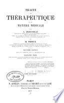 Traité de thérapeutique et de matière médicale