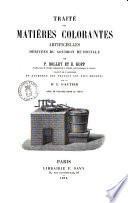 Traité des matières colorantes artificielles dérivées du goudron de houille par P. Bolley et E. Kopp