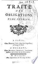 Traité des obligations