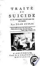 Traité du suicide ou du meurtre volontaire de soi-même