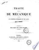 Traité élémentaire de mécanique appliquée aux sciences physiques et aux arts mécanique des corps solides par C. Bresson