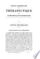 Traite elementaire de therapeutique de matiere medicale et de pharmacologie