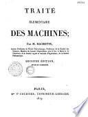 Traité élémentaire des machines...