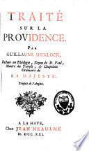 Traité sur la providence