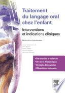 Traitements du langage oral chez l'enfant